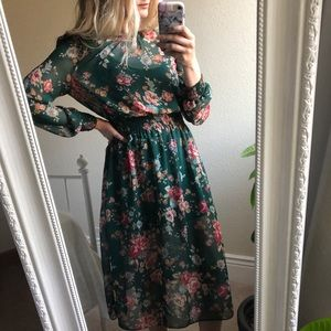 New Look Floral Midi Dress
